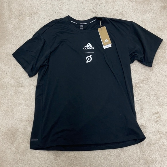BNWT Peloton x Adidas black go retro tee shirt